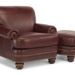 Bay Bridge Leather Chair & Ottoman