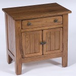 Attic Heirlooms Door Nightstand, Natural Oak Stain