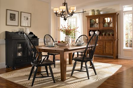 attic heirlooms rectangular leg table natural oak stain. beautiful ideas. Home Design Ideas